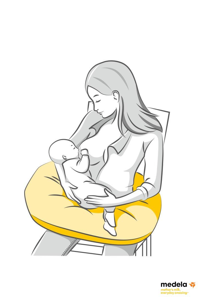 Jastuk za trudnice i porodilje, sivi
